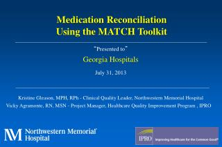 """ Presented to "" Georgia Hospitals  July 31, 2013"