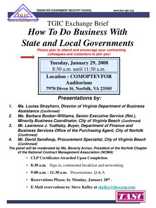 How To Do Business With State and Local Governments