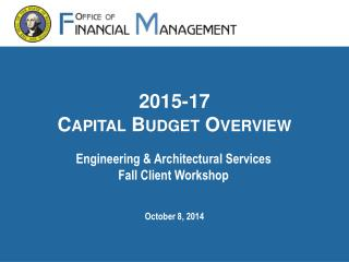2015-17 Capital Budget Overview