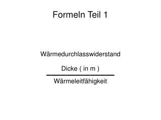 Formeln Teil 1