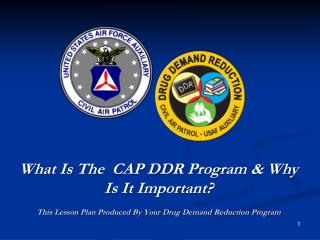 What Is The  CAP DDR Program  Why Is It Important  This Lesson Plan Produced By Your Drug Demand Reduction Program