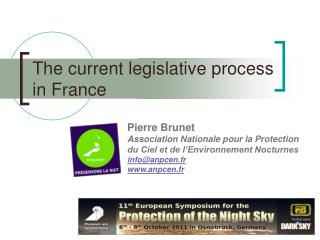The current legislative process in France