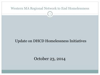 Western MA Regional Network to End Homelessness