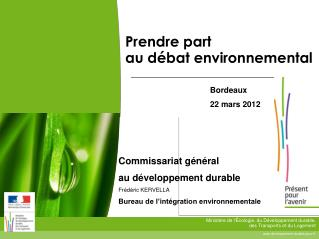Prendre part au d�bat environnemental