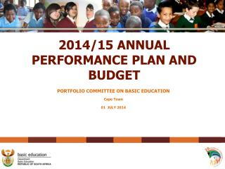 2014/15 ANNUAL PERFORMANCE PLAN AND BUDGET
