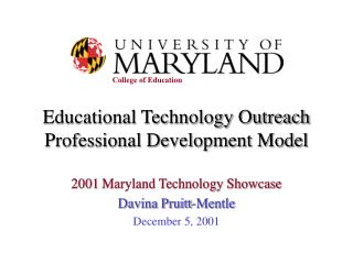 Educational Technology Outreach Professional Development Model