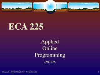 ECA 225