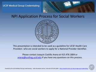 NPI Application Process for Social Workers