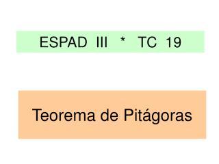 ESPAD  III   *   TC  19