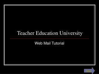 Teacher Education University