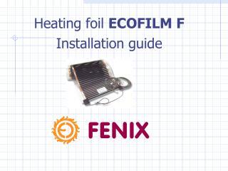 Heating foil  E COFILM F Installation guide
