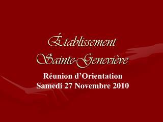 Établissement  Sainte-Geneviève