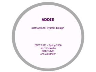 ADDIE Instructional System Design