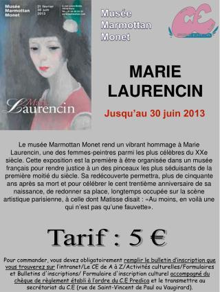 Tarif : 5 €