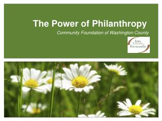 The Power of Philanthropy