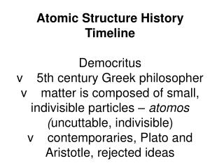 Atomic Structure History TimelinePPT