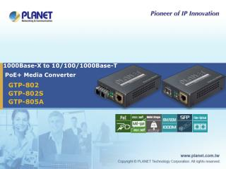 1000Base-X to 10/100/1000Base-T  PoE+ Media Converter