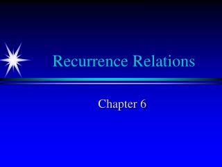 Recurrence Relations