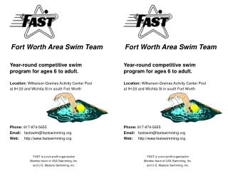 Fort Worth Area Swim Team