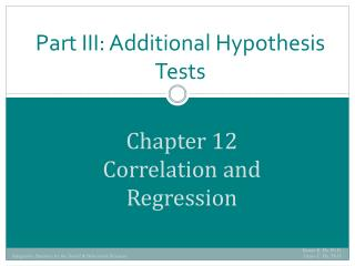 Chapter 12 Correlation and Regression