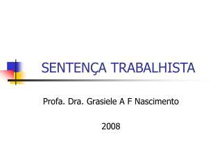 SENTENÇA TRABALHISTA