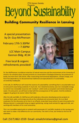 Building Community Resilience in Lansing