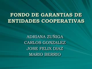 FONDO DE GARANTIAS DE ENTIDADES COOPERATIVAS