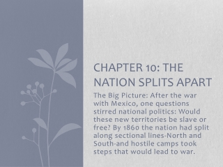 Chapter 10   The Nation Splits Apart