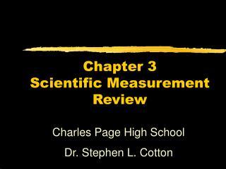 Chapter 3 Scientific Measurement Review