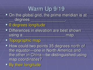 Warm Up 9