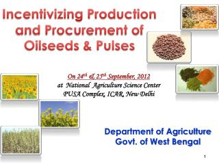 Incentivizing Production and Procurement of Oilseeds & Pulses