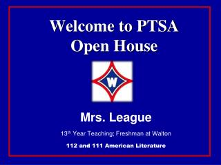 Welcome to PTSA  Open House
