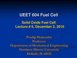 UEET 604 Fuel Cell