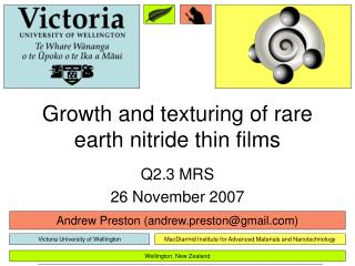 Growth and texturing of rare earth nitride thin films