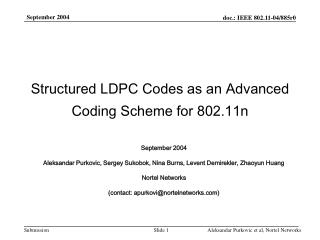 Structured LDPC Codes as an Advanced Coding Scheme for 802.11n