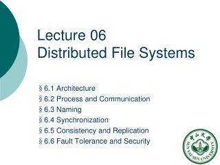 Lecture 06  Distributed File Systems