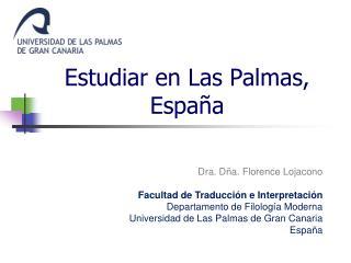 Estudiar en Las Palmas, España