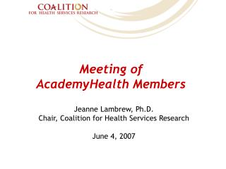 Meeting of AcademyHealth Members