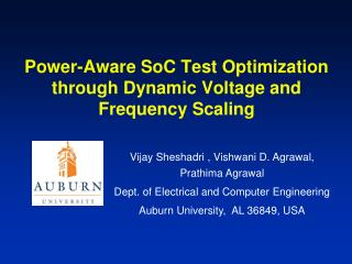 Power-Aware SoC Test Optimization through Dynamic Voltage and Frequency Scaling