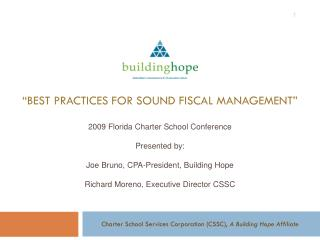 """Best Practices for Sound Fiscal Management"""