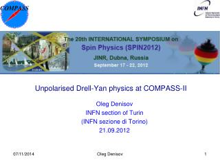 Unpolarised Drell-Yan physics at COMPASS-II