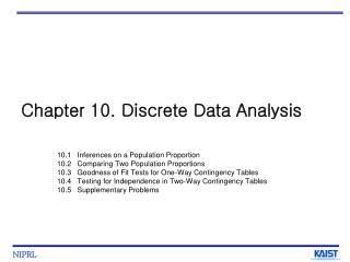 Chapter 10. Discrete Data Analysis