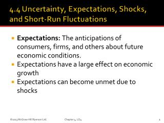 Expectations:  The anticipations of consumers, firms, and others about future economic conditions.