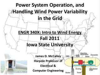ENGR 340X: Intro to Wind Energy Fall 2011 Iowa State University