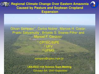 Regional Climate Change Over Eastern Amazonia Caused by Pasture and Soybean Cropland Expansion