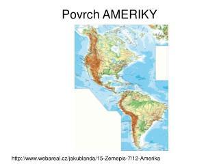 Povrch AMERIKY