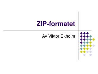 ZIP-formatet