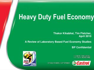 Heavy Duty Fuel Economy