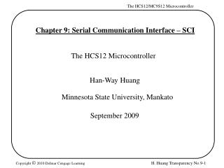 Chapter 9: Serial Communication Interface – SCI