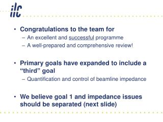 Congratulations to the team for An excellent and  successful  programme